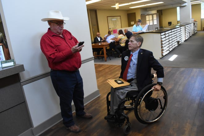 Dennis Dezendorf (left) and  Tommy Carnline are among the six candidates who have qualified at the Rapides Parish Clerk of Court's Office. Qualifying runs through Thursday, and the list of candidates won't be official until qualifying is over.