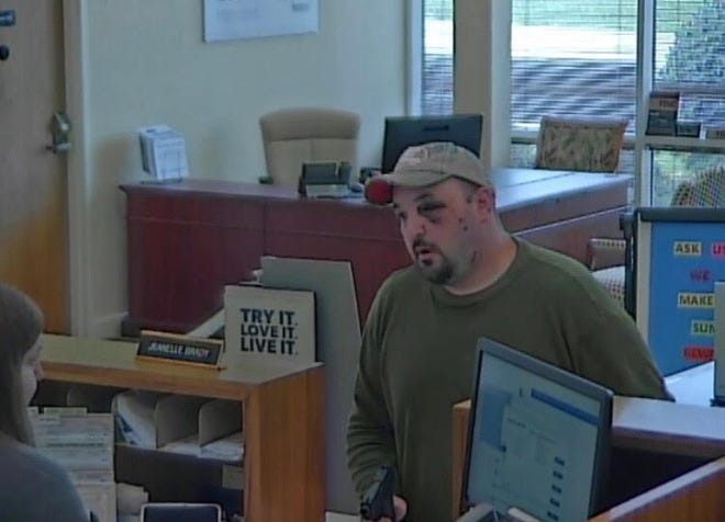 Brian Keith Leonhart, who was wanted in connection with an Aug. 4 robbery in Black Mountain and an Aug. 5 bank robbery in Asheville, was apprehended in Black Mountain after a chase on Aug. 6.