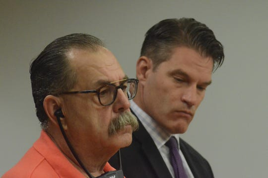 Roy Rolfe Sr., left, and his attorney, Donald Smith in court Tuesday.