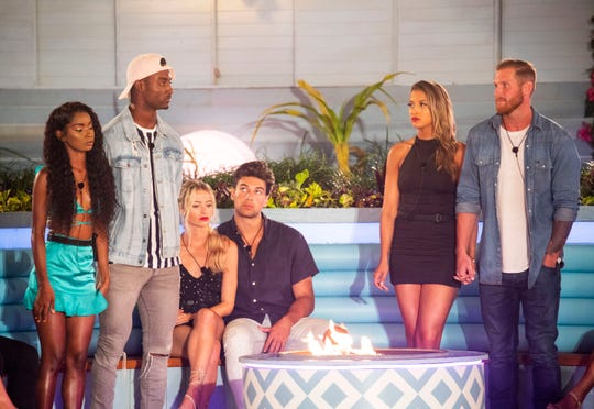 From left: Aissata Diallo, Yamen Sanders, Elizabeth Weber, Zac Mirabelli, Emily Salch and Weston Richey were in the bottom two and were at risk of being eliminated during the Aug. 1 episode.
