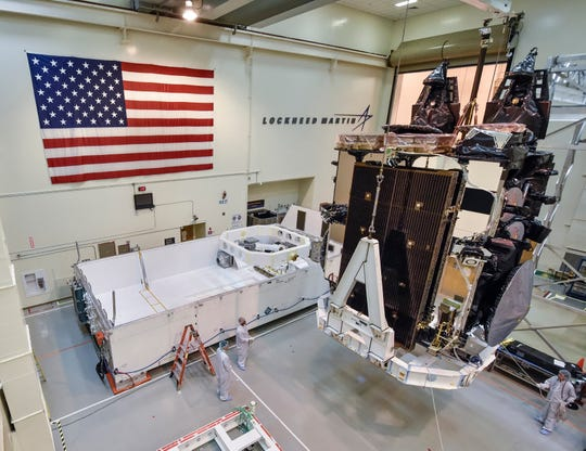 Built by Lockheed Martin, the AEHF-5 will provide protected, survivable communications for the nation's nuclear command, control and communication mission.