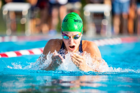 Winooski's Maggie Desmond was a record-breaker at this weekend's Vermont Swim Association state championships.