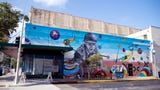 Watch time lapse video taken over six weeks as participants in the K Space Contemporary Summer Summer Mural Arts Program bring a mural to life.