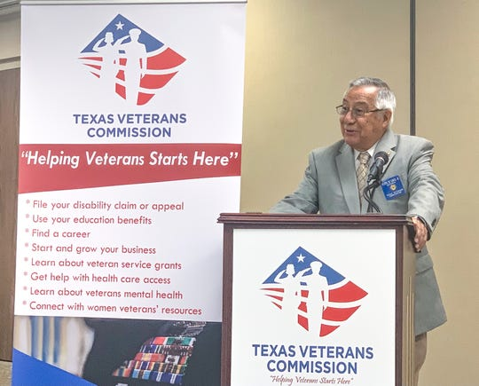 """Eliseo """"Al"""" Cantu Jr., chairman of the Texas Veterans Commission, announces more than $1 million in grants to Corpus Christi-area agencies Tuesday."""