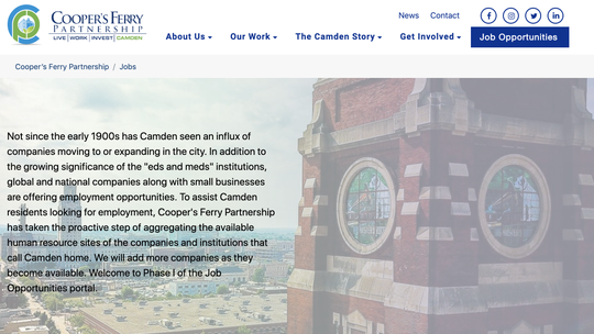 Cooper's Ferry Partnership launches online jobs portal