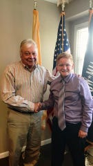 Paul St. Pierre, 12, of Maple Shade met with state Sen. Jim Beach (D-Camden) in July to  propose a law that would mandate epilepsy safety training in New Jersey schools.