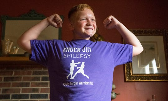 Paul St. Pierre, 12 of Maple Shade,  was recently diagnosed with epilepsy.  Paul and his mother, Colleen Quinn, have established a non-profit called Paul's Purple Warriors NJ to raise awareness for the disease.