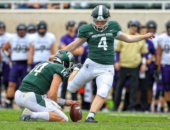 Michigan State kicker Matt Coghlin (Moeller)