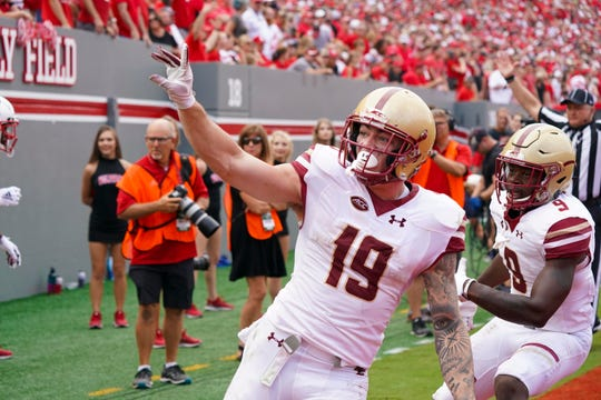 Boston College wide receiver Ben Glines (St. Xavier)