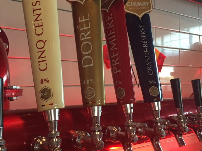taps for Chimay beers at Taste of Belgium at The Banks. Taste of Belgium cafes now has all four Chimay beers permanently on tap.