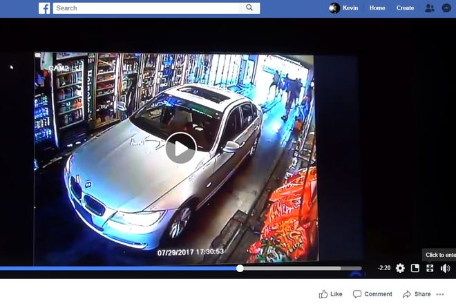 Screenshot of surveillance video posted on Facebook that shows a fight that preceded the July 29, 2017 fatal shooting of Lacey Rae King at a Lockland drive-thru.