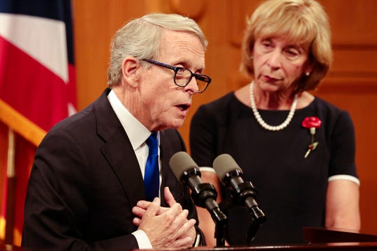 Ohio Gov. Mike DeWine rolled out more than a dozen proposals to reduce deaths from gun violence.