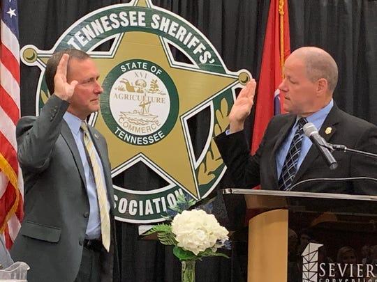 Sheriff Fuson swearing in as TSA President.