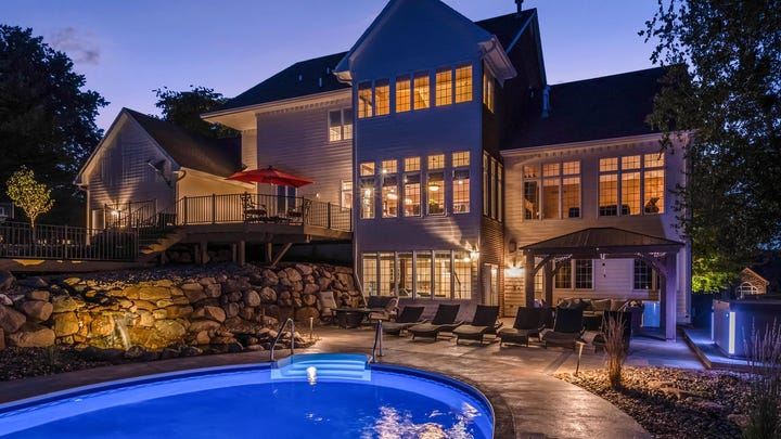 Located in the luxury Turnberry residential development in West Des Moines, this mansion sits on a private 1.5-acre lot.