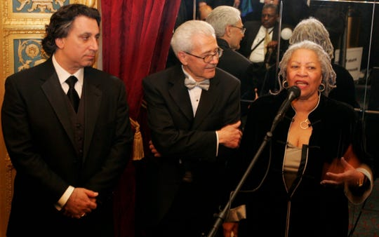 Margaret Garner composer, Richard Danielpour, David DiChiera, and Toni Morrison talk to the media and crowds after the opera, Margaret Garner. The  opera's world premiere was held on Saturday, May 07, 2005 in Detroit at the Detroit Opera House.