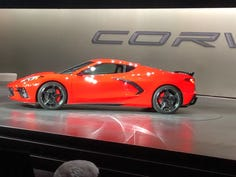 The mid-engined 2020 Chevrolet Corvette Stingray will compete for North American Car of the year.