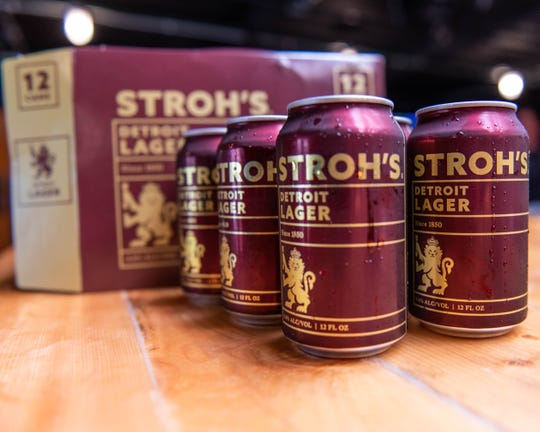 Stroh's Brewery Co. and Brew Detroit new locally brewed Lager.