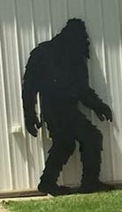 A Bigfoot cutout that was allegedly stolen from Michigan shop Handmade in Howell.