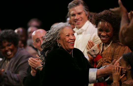 Toni Morrison gives her congrats to the cast of Margaret Garner after the opera's world premiere on Saturday, May 07, 2005 in Detroit at the Detroit Opera House.