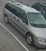 A man suspected of stealing a purse from the car parked next to his at a Waterford Taco Bell in May 2019.