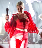 "Robyn performs in concert during her ""Honey Tour"" last month in Philadelphia."