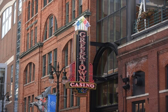 New owner Penn National envisions a sports-betting venue at Greektown Casino accessible at the street level blocks from Comerica Park and Ford Field.
