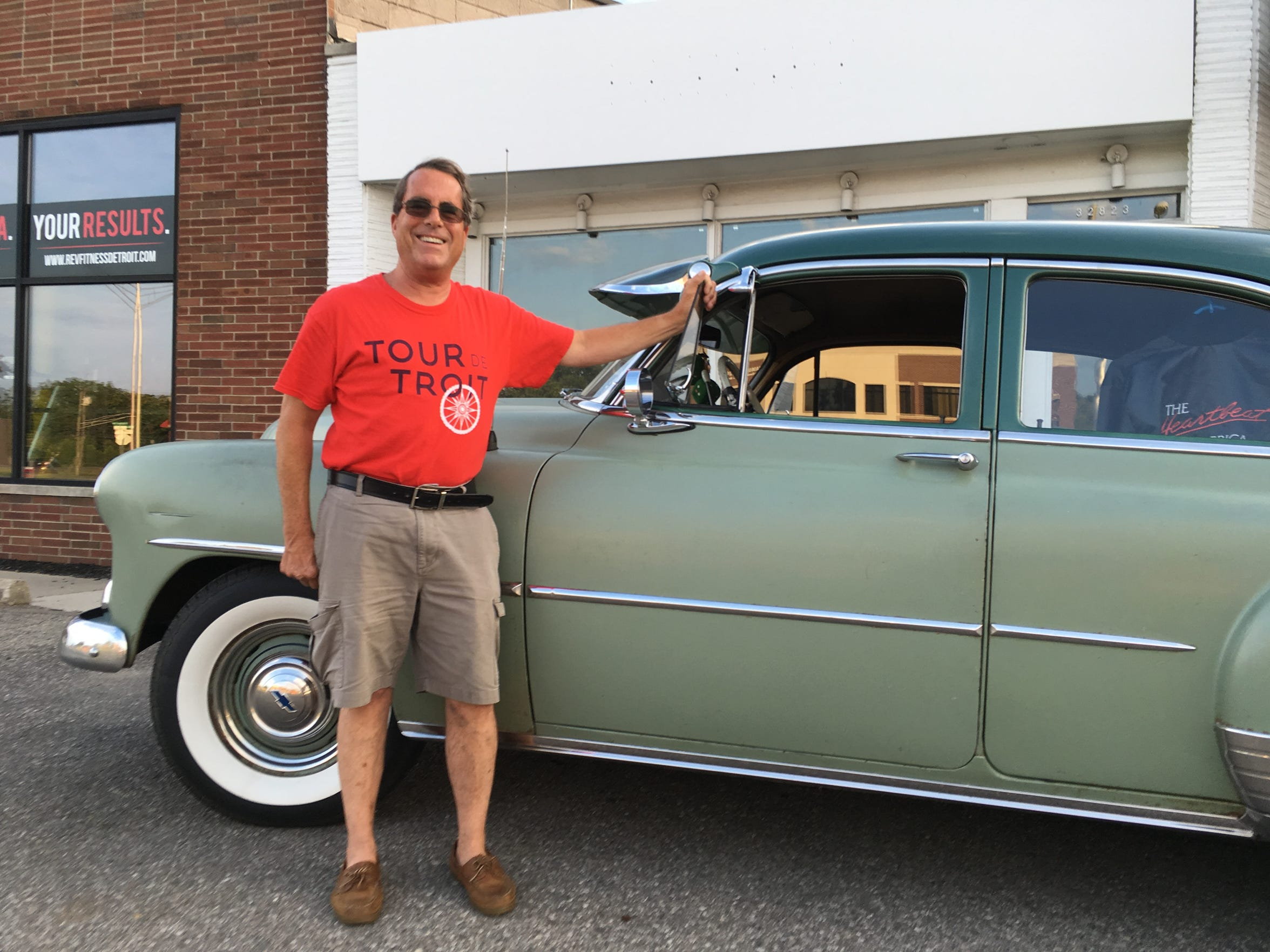 Tom Hill of Clawson drove his 1951 Chevrolet Deluxe Styleline Power Glide in the first Woodward Dream Cruise – and every Dream Cruise since.