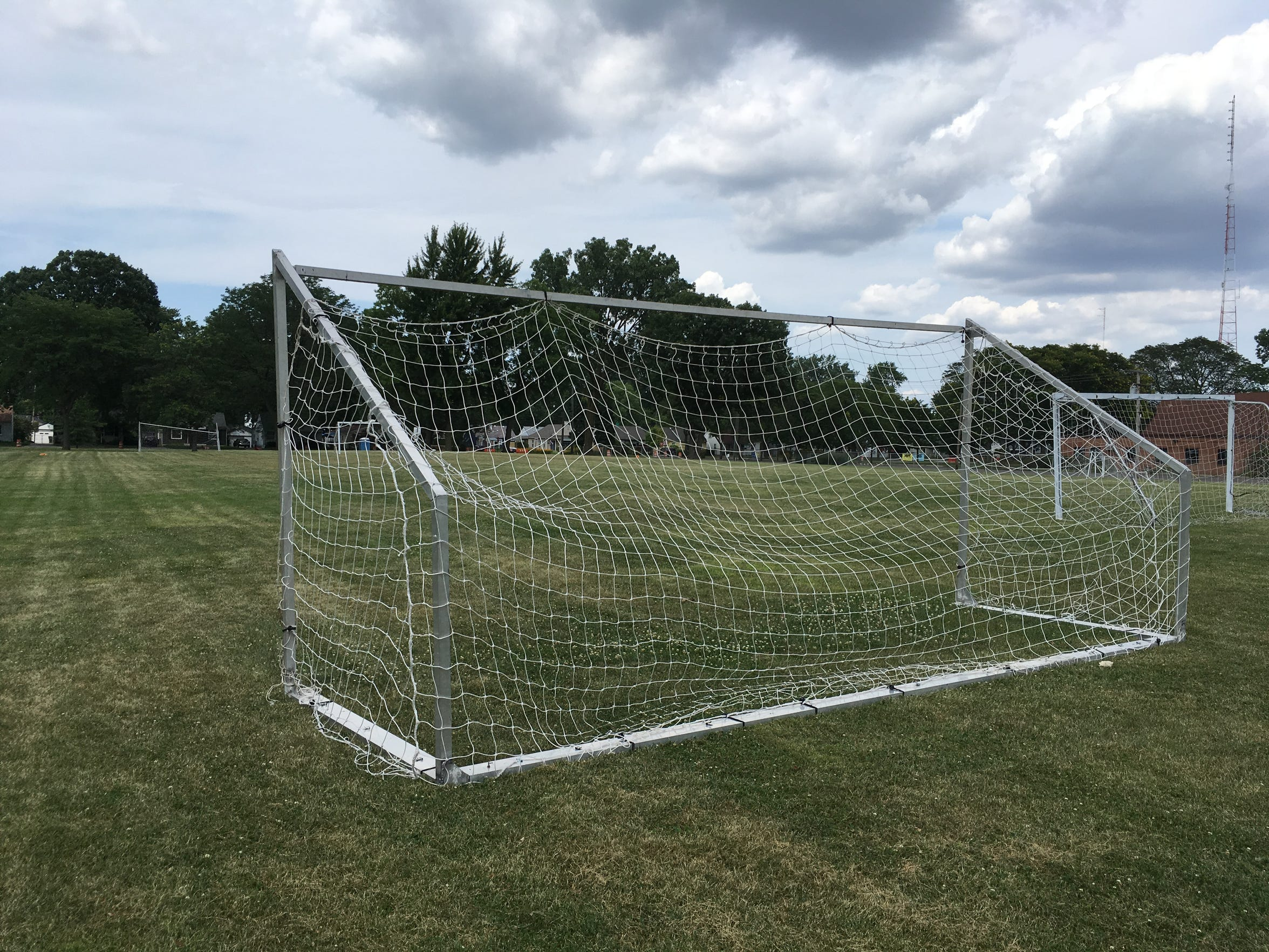 The soccer field at Martin Road Park in Ferndale was paid for in part by the car show that launched the Woodward Dream Cruise. League play starts again there in September. There is no signage marking its connection to the Dream Cruise or Nelson House.