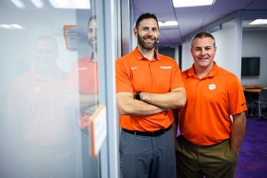 Matt Lombardi, left, and Steve Duzan pose for a portrait at the Nieri Family Academic Enrichment Center Monday, Aug. 5, 2019.