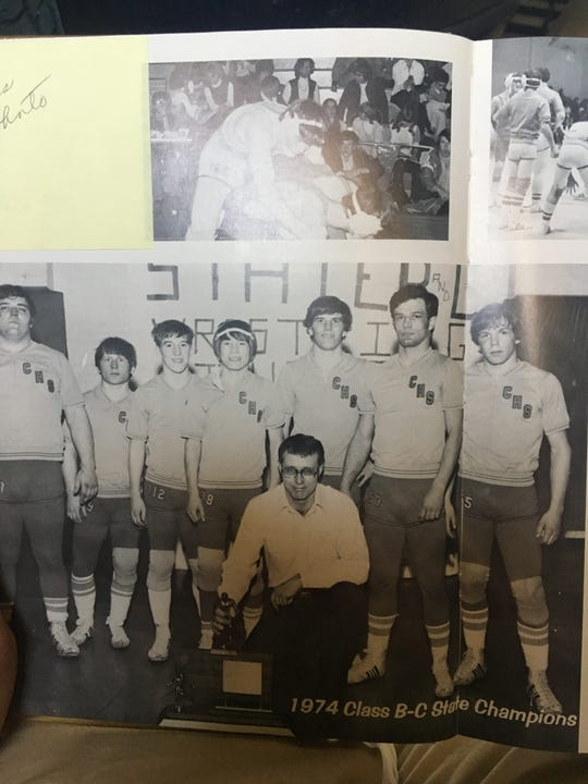 The Chester High wrestling team of coach Steve Wood won the Class B-C state championship in 1974.