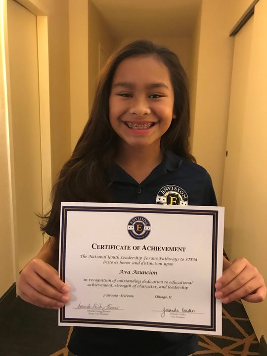Ava L.G. Asuncion was invited to a National Youth Leadership Forum- Pathways to STEM from July 28 to Aug. 2. Ava will be entering sixth grade this school year.  She is the daughter of Kamille L.G. and Gene Asuncion (U.S. Coast Guard, St. Louis, MO). She is the granddaughter of the late Michael Cepeda Leon Guerrero, Dededo, and Catherine Castro Pocaigue, Dededo, and  Eugene and Jerrilynn Asuncion, Mangilao.