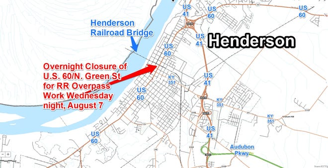 Train overpass work will be taking place on North Green Street.