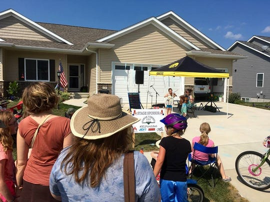 . Live music will be performed from stages set up at six porches and driveways in Arlington Ridge in North Liberty this Saturday from 2:30 to 8 p.m. for Porchfest.