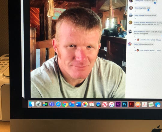 This photo of a computer screen shows Louie Bernard Revette in a Facebook post.