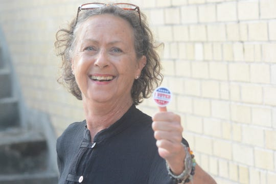 Janice Jordan got up early on the morning of Aug. 6, 2019, to caste her vote at the Eudora Welty Library precinct.
