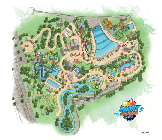 A rendering of Soaky Mountain Waterpark in Sevierville.