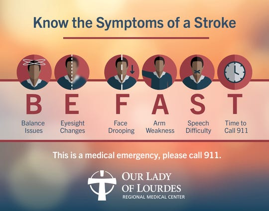 BE FAST: Know the symptoms of a stroke.
