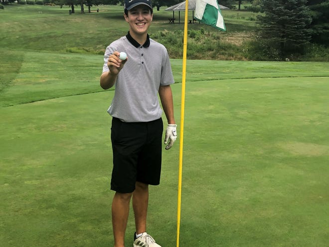 Lancaster senior Chase Noland recorded a hole-in-one at the Lancaster Country Club during the first day of tryouts for the Golden Gales' golf team.