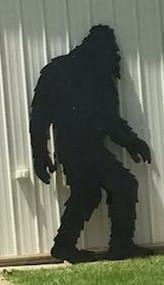 A Bigfoot cutout was reported stolen from Howell gift shop Handmade in Howell.