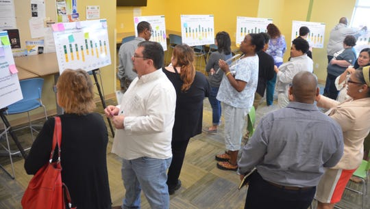 Parents participate in a leadership summit held by the Prichard Committee for Academic Excellence.