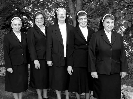 Sister Leonette Kochan, Sister Myra Jean Sweigart, Sister Jane Kinate, Sister Theresa Feldkamp and Sister Natalie Binversie.