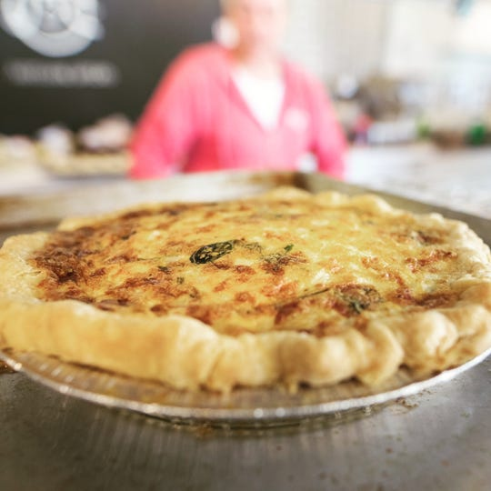 Quiche is a popular option for Mother's Day carryout.