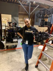 """Kayla Sullers, a rising sophomore studying mass communication at Grambling State University, interned on the set of """"Empire"""" during the show's final season."""