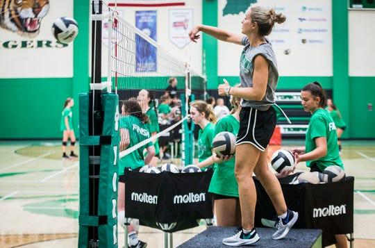 Head coach Stephanie Bloom prepares Yorktown for its 2019 season at Yorktown High School Tuesday, Aug. 6, 2019.