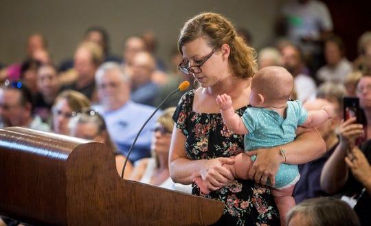 Erin Kinsella addresses Muncie City Council.