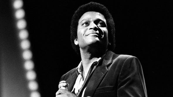 Country music trailblazer Charley Pride was born in Mississippi in 1938. Here, Pride performs during the CMA Awards show at Grand Ole Opry House on Oct. 13, 1980.