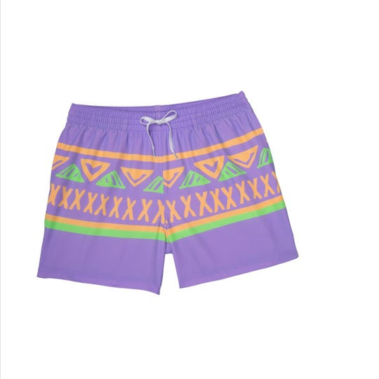 A pair of trunks for Thomas Rhett's new 'Rhettro' Chubbies swim line.