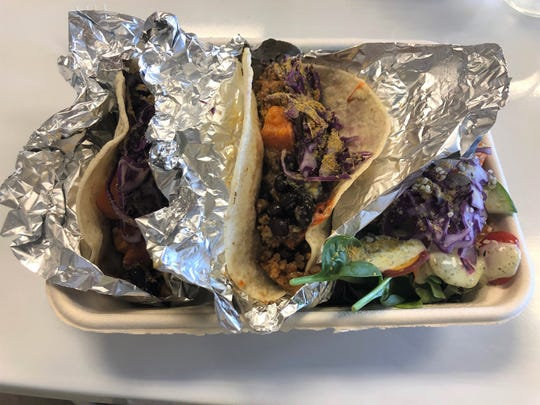 Nut tacos at Organically Twisted
