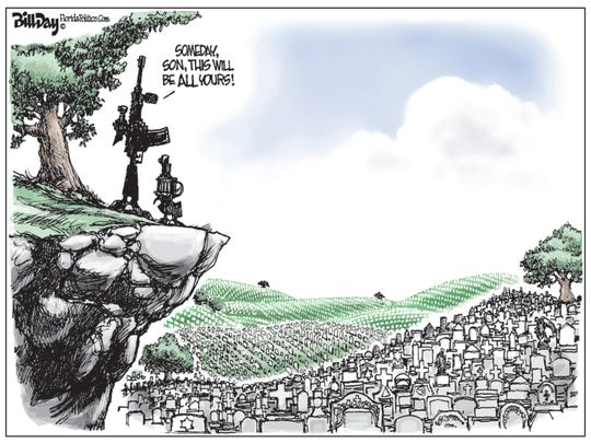 Guns and graves in U.S.