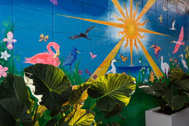 A mural is blossoming at the Celebration Park on Tuesday, August 6, 2019, in East Naples.